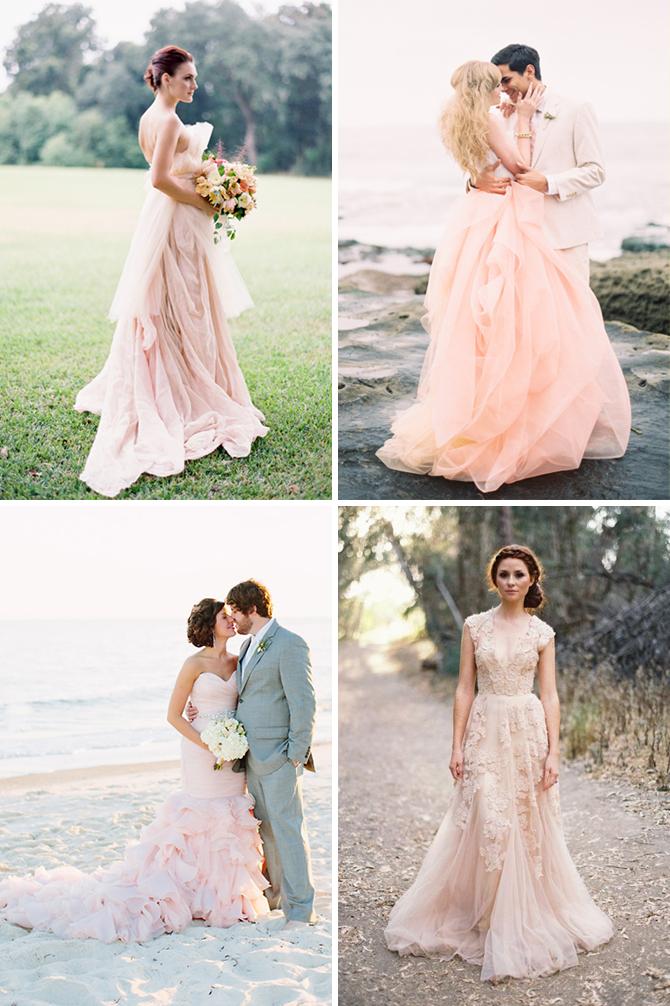 Barevné svatební šaty