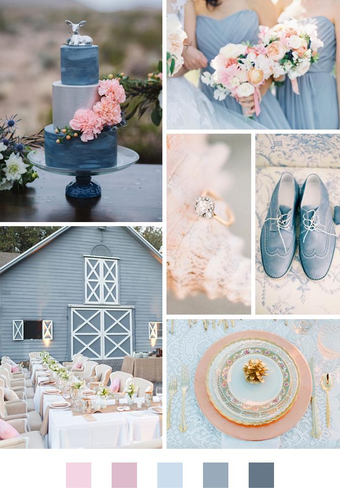 barevná paleta na svatbu